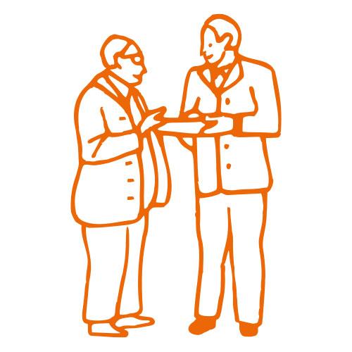 Icon von zwei Personen