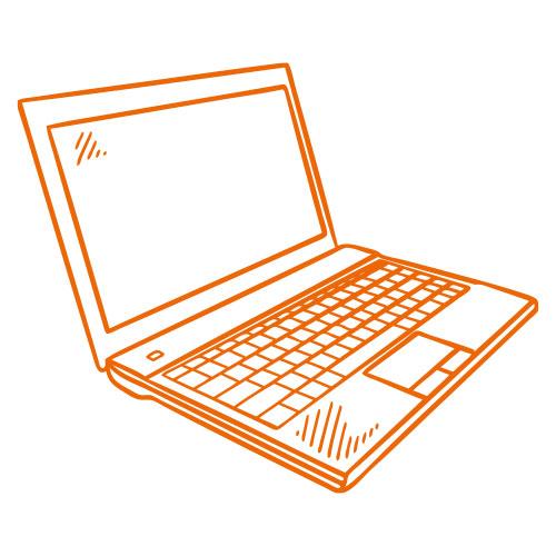 Icon eines Laptops
